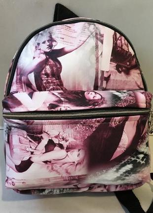Женский рюкзак городской принт