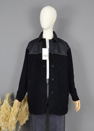 Вельветовая куртка-рубашка zara