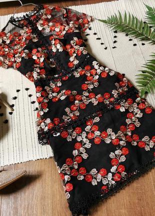 Чудова сукня з вишивкою asos черное платье с вышивкой нарядное