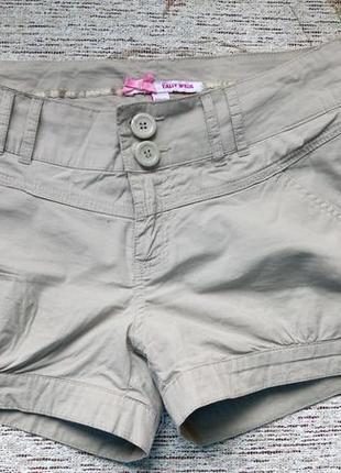 Брендовые бежевые, короткие шорты tally weijl