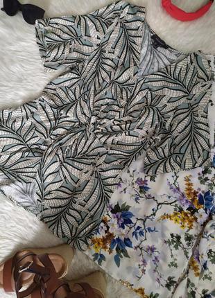 Актуальная блуза в листик размер xs s бренд primark