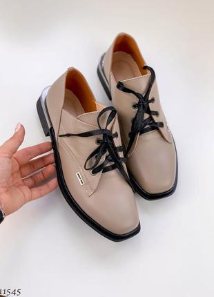 Туфли =nikart=🔥ботинки натуральная кожа 🖤
