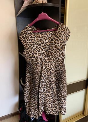 Платье летнее тигровый принт