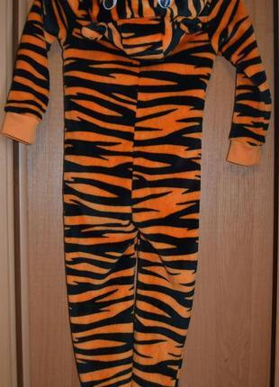 Костюм тигр на 4-5 лет, кигурими тигренок, пижама на мальчика 4-5 лет