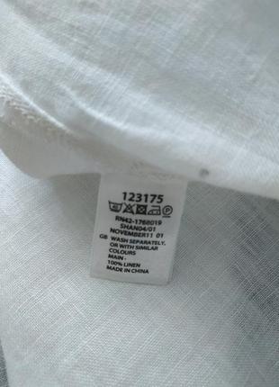 Натаральная белая туника льняная, оверсайз8 фото