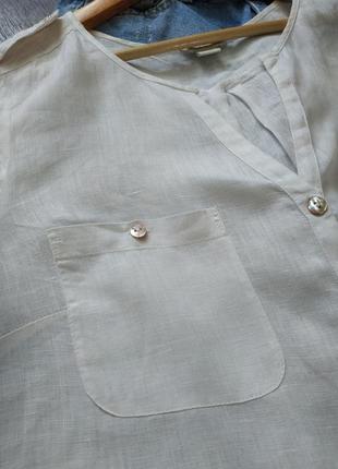 Натаральная белая туника льняная, оверсайз5 фото