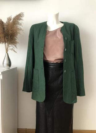 Стильний лляний піджак пиджак жакет