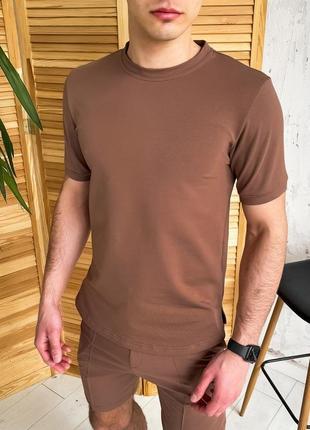 "👕 футболка pobedov ""nebo"" (ш/ф(р)00229) капучино"
