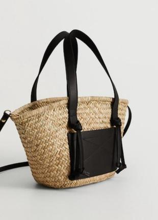 Сумка, соллменная сумка, сумка плетеная из соломы, сумка на лето