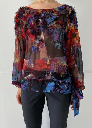 Блузка женская, разноцветная, легкая просветляется, разноцветная блуза, легкая блузка.