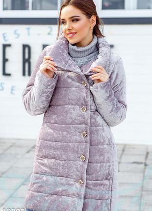 Шикарная зимняя велюровая одеяло зефирка куртка от gepur