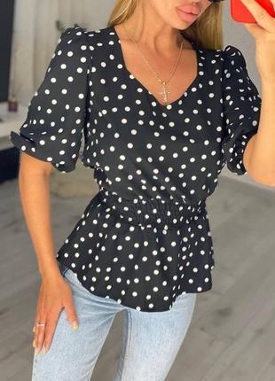 Женские блузки в горошек