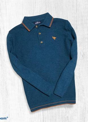 Next реглан свитер поло фактурный для мальчика 4-5 лет