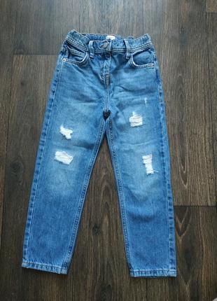 Джинсы с завышенной талией, джинсы мом2 фото