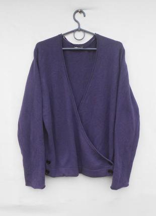 Кашемировый свитер джемпер на запах jjb benson 🌿