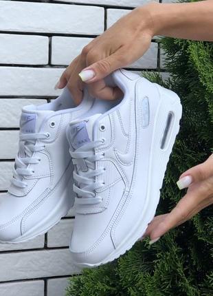 Белые женские кроссовки удобные nike6 фото