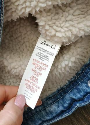 Джинсовая куртка с подстежкой, теплая демисезонная курточка5 фото