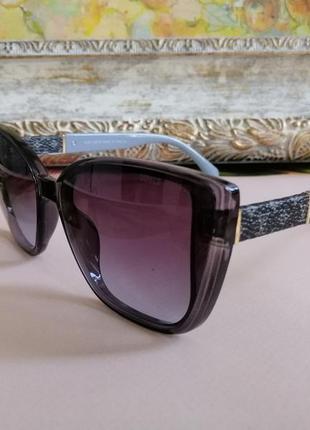 Эксклюзивные брендовые солнцезащитные женские серые солнцезащитные женские очки лисички 2021