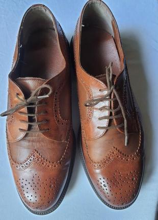 Мужские кожаные туфли oксфорды clarks , размер 44,5