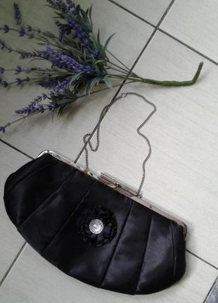 Черный клатч