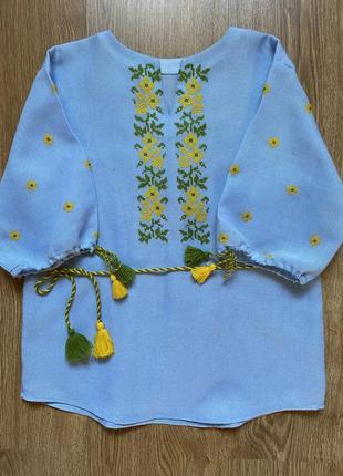 Блуза детская вышитая крестиком 🇺🇦