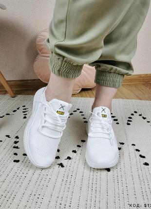 Кроссовки женские белые сетка кросы