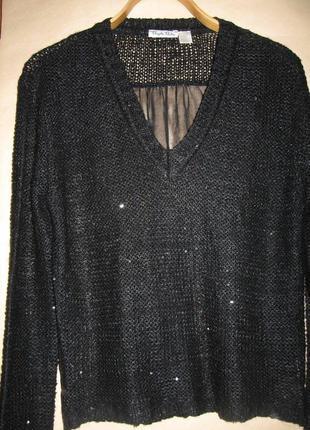 Блуза туника с прозрачной спиной
