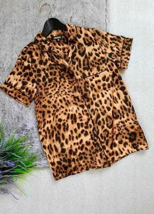 Трендовая блуза рубашка в пижамном стиле