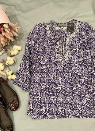 Вискоза 100%блузка туника рубашка michel axel