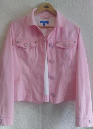 Яркий, розовый жакет, блейзер, коттон, escada sport