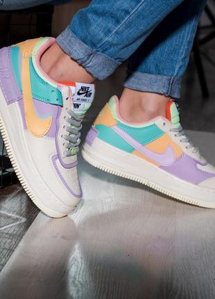 🤍 женские кроссовки nike air force 1 shadow
