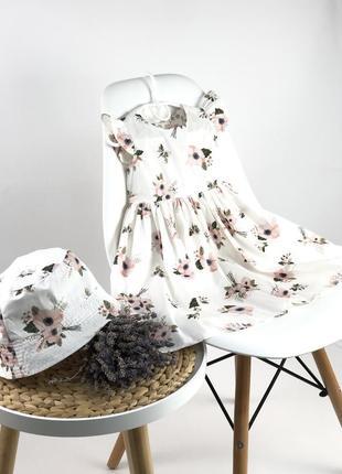 Сукня в квітковий принт платье с крильцями