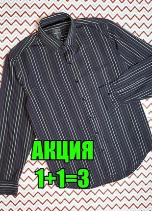 😉1+1=3 мужская темная коричневая рубашка сорочка с длинным рукавом tu, размер 48 - 50
