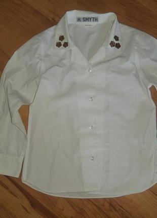 Рубашка сорочка детская белая в школу