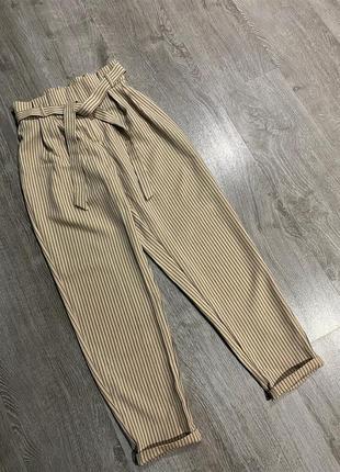 Актуальные брюки в полоску на талии от primark