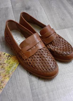 Туфли лоферы мужские кожаные