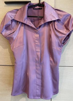 Блузка для офиса savage нежно сиреневого цвета