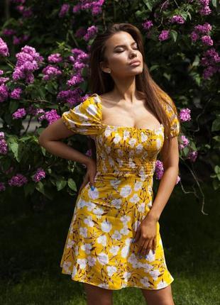 Летнее платье со льна