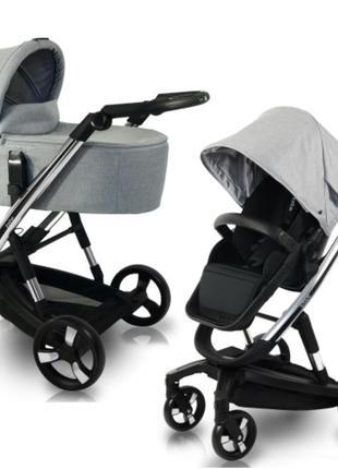 Универсальная коляска ibebe i - stop chrome grey