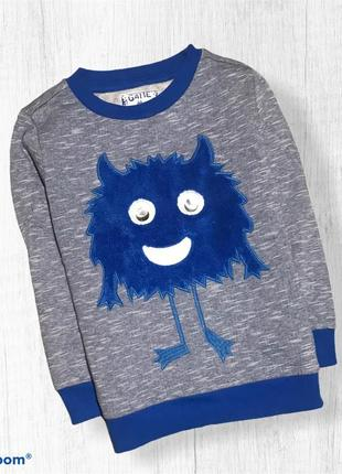 F&f свитер свитшот монстрик с начесом.