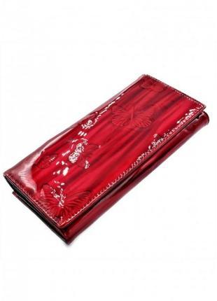 Кожаный кошелек - красный