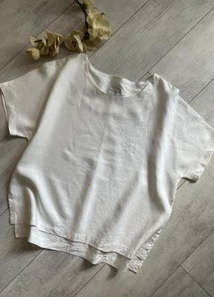 Льняная футболка из смесового льна лён