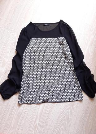 Шикарная блуза с шифоновыми рукавами