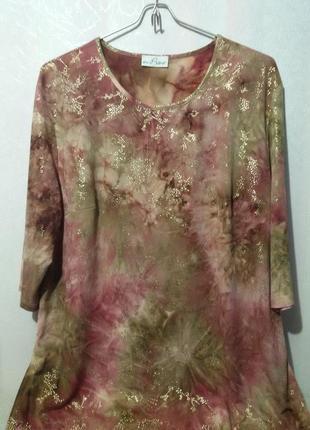 Блуза джемпер с золотыми блестками (пог- 63 см+)   65