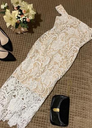 Шикарна мереживна сукня міді ax paris
