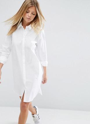 Белое платье-рубашка asos