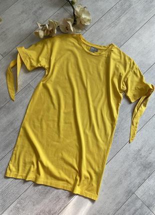 Хлопковое платье asos удлиненная футболка
