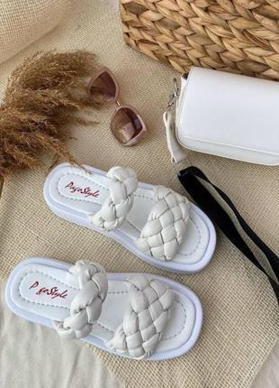 Женские босоножки zara косичка кожаные босоножки белые босоножки косичка5 фото