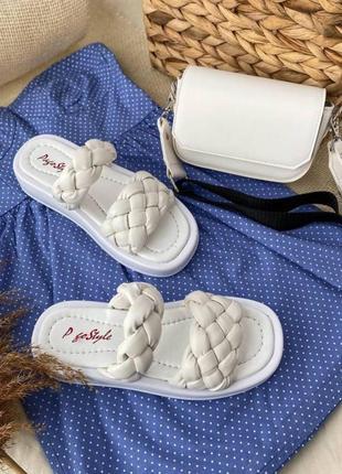Женские босоножки zara косичка кожаные босоножки белые босоножки косичка2 фото
