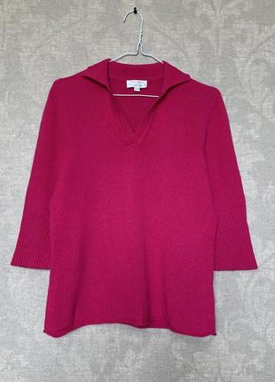 Кашемировый свитер поло бренда peter hahn, 100% кашемир. размер m-l (евро 40).
